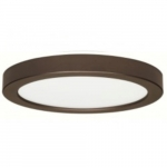 18.5W Round 9 Inch LED Flush Mount, Dimmable, 3000K, Bronze