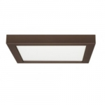 18.5W Square 9 Inch LED Flush Mount, Dimmable, 3000K, Bronze