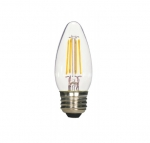 4.5W LED B11 Bulb, Blunt Tip, Dimmable, E26, 350 lm, 120V, 5000K, Clear