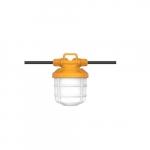 50W 5-Piece LED Commercial String Light, 6000 lm, 5000K, Orange