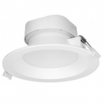 9W Round 5-6 Inch LED Downlight, Direct Wire, Dimmable, 3000K