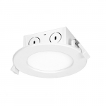 8.5W Round 4 Inch LED Downlight, Direct Wire, Dimmable, 3000K