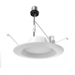 9.8W Dimmable LED Downlight Retrofit, 2700K, 650 Lumens