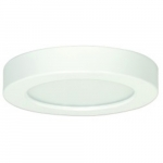 "10.5W Round 5.5"" LED Flush Mount, Dimmable, 2700K, 90 CRI, White"