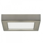 10.5W 5.5-in Square LED Flush Mount, Dimmable, 2700K, 90 CRI, Brushed Nickel