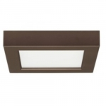 10.5W 5.5-in Square LED Flush Mount, Dimmable, 2700K, 90 CRI, Bronze
