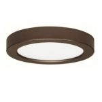 13.5W Round 7 Inch LED Flush Mount, Dimmable, 2700K, 90 CRI, Bronze