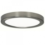 18.5W Round 9 Inch LED Flush Mount, Dimmable, 2700K, 90 CRI, Brushed Nickel