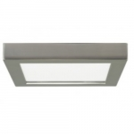 18.5W Square 9 Inch LED Flush Mount, Dimmable, 2700K, 90 CRI, Brushed Nickel