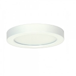 13.5W Round 7 Inch LED Flush Mount, Dimmable, 5000K, White