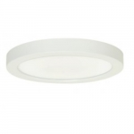 18.5W Round 9 Inch LED Flush Mount, 277V, Dimmable, 5000K, 90 CRI, White