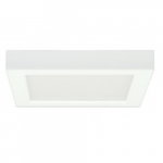 18.5W Square 9 Inch LED Flush Mount, 277V, Dimmable, 5000K, 90 CRI, White