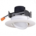 "9W 4"" LED Gimbal Retrofit Downlight, Dimmable, 2700K"