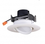 "9W 4"" LED Gimbal Retrofit Downlight, Dimmable, 4000K"