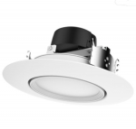 "12W 5/6"" LED Gimbal Retrofit Downlight, Dimmable, 4000K"