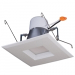 "15W 5/6"" LED Recessed Retrofit Downlight, Square Trim, Dimmable, 2700K"