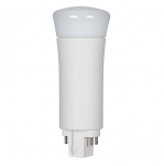 9W LED PL Bulb, 4-Pin Vertical Ballasts, 5000K, 900 Lumens