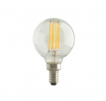 5.5W LED G16.5 Bulb, Dimmable, E12, 500 lm, 120V, 2700K, Clear
