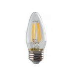 4W LED B11 Bulb, Dimmable, E26, 350 lm, 120V, 2700K, Clear