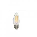 4.5W LED C11 Blunt Tip Filament Bulb, 2700K, Clear