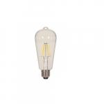 6.5W LED ST19 Decorative Filament Bulb, 2700K, Clear