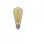 4.5W LED ST19 Antique Amber Filament Edison Bulb, 2200K