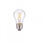 7W LED A19 Clear Filament Bulb, 2700K