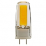 4W JC LED Light Bulb w/ G8 Base, Dimmable, Clear, 3000K