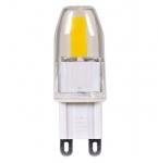 4W JCD LED Light Bulb w/ G9 Base, Dimmable, Frost, 3000K