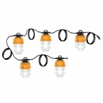 100W 5-Piece LED High Bay Caged String Light, 5000K