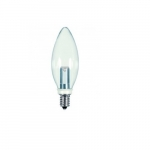 1W LED BA9 1/2 Candelabra Base Bulb