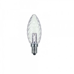1W LED BA9 1/2 Candelabra Base Bulb, Crystal