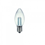 1/2W LED C7 Candelabra Base Bulb, Clear