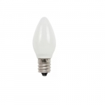1/2W LED C7 Candelabra Base Bulb, White