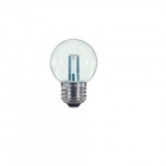 1.4W LED G16.5 Globe Shaped Bulb, Clear