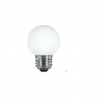 1.4W LED G16.5 Globe Shaped Bulb, White