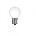 1.2W LED S11 Specialty Indicator Ceramic White Bulb, 2700K