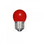 1.2W LED S11 Specialty Indicator Ceramic Red Bulb, 2700K