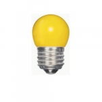 1.2W LED S11 Specialty Indicator Ceramic Yellow Bulb, 2700K