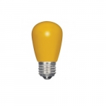 1.4W LED S14 Specialty and Indicator Ceramic Yellow Bulb