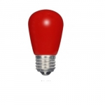 1.4W LED S14 Specialty and Indicator Ceramic Red Bulb