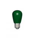 1.4W LED S14 Specialty and Indicator Ceramic Green Bulb