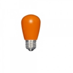 1.4W LED S14 Specialty and Indicator Ceramic Orange Bulb