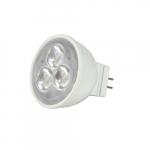 3W LED MR11 Bulb w/ GU5.3 Base, 3000K, 25 Degree