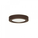 "Blink 10.5W 5.5"" Round LED Flush Mount, 2700K, Bronze"