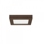 "10.5W 5.5"" BLINK LED Flush Mount Fixture, Square, 2700K, Bronze"