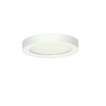 "Blink 13.5W 7"" Round LED Flush Mount, 2700K, 800 Lumens, White"