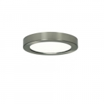 "Blink 13.5W 7"" Round LED Flush Mount, 2700K, 800 Lumens, Brushed Nickel"