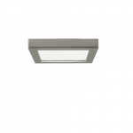 "Blink 13.5W 7"" Square LED Flush Mount, 2700K, 780 Lumens, Brush Nickel"