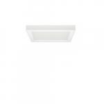 """Blink 18.5W 9"""" Square LED Flush Mount, 2700K, 1100 Lumens, White"""